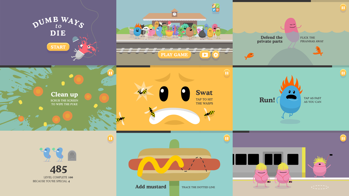 Dumb Ways to Die iphone screenshots